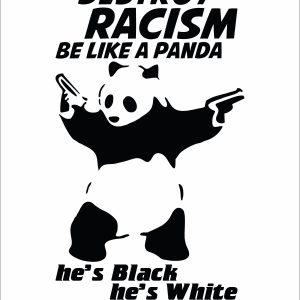 Destroy Racism Be Like Panda Men T-shirt