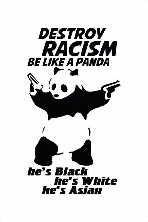 Destroy Racism Be Like Panda Men T-shirt
