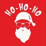 HO HO HO Santa Christmas Red-1
