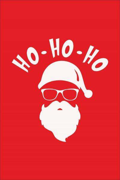 HO HO HO Santa Christmas Red Men T-shirt