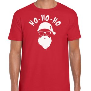 HO HO HO Santa Christmas Red Men T-shirt