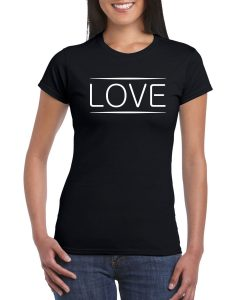 Love Black T-shirt Women