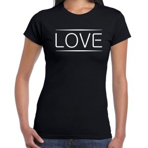 Love Black T-shirt Women