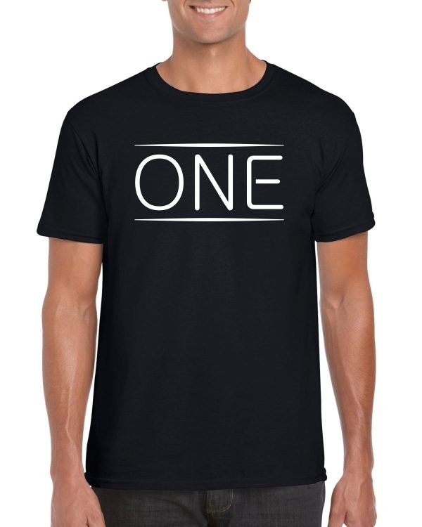 One Black T-shirt Men