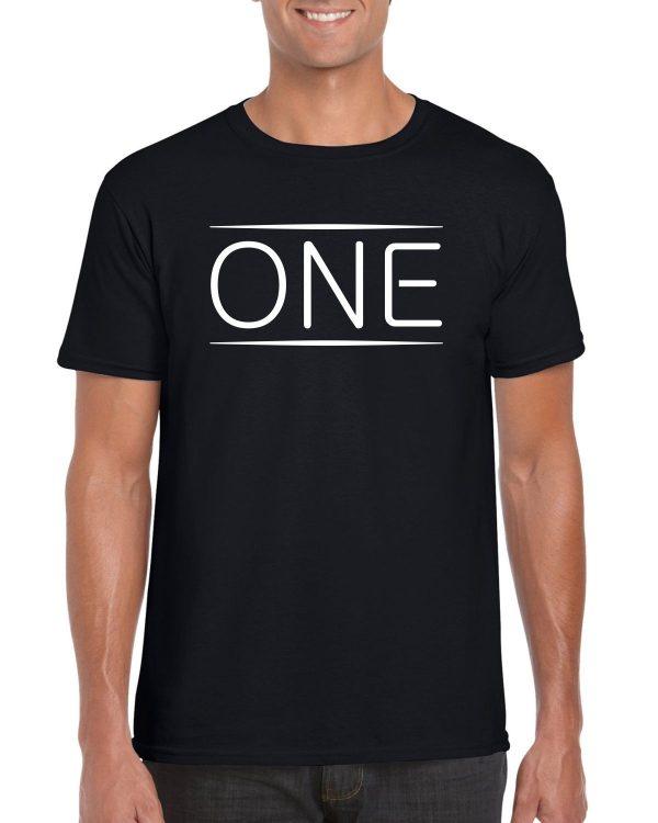 One Black T-shirt Men