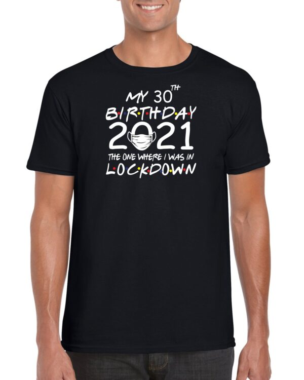 My Lockdown Birthday 2021 with mask